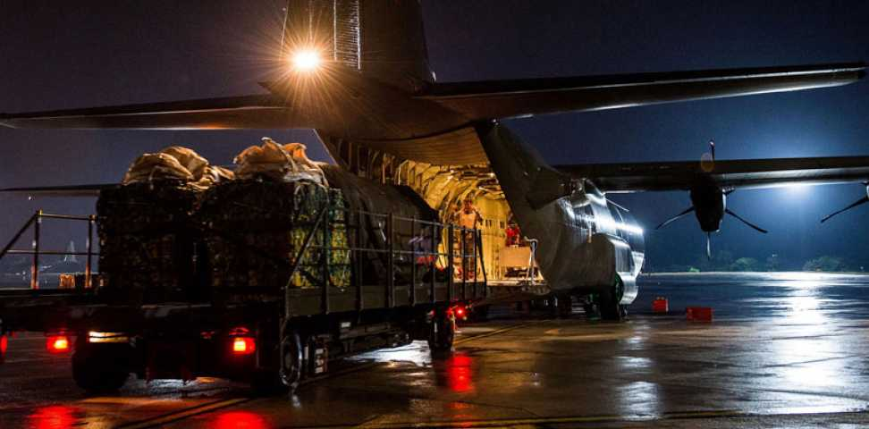 C-130 Hercules aircraft are playing a critical role in assisting those on the front lines of the Covid-19 pandemic. #WeAreMarshall