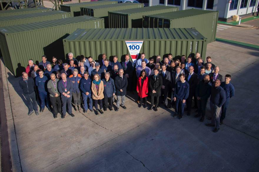 100th container leaves for Holland