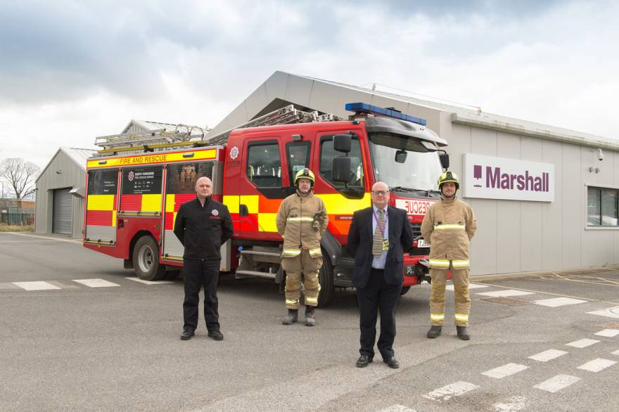 Marshall Advanced Composites provides local Fire Engine with a fresh new look