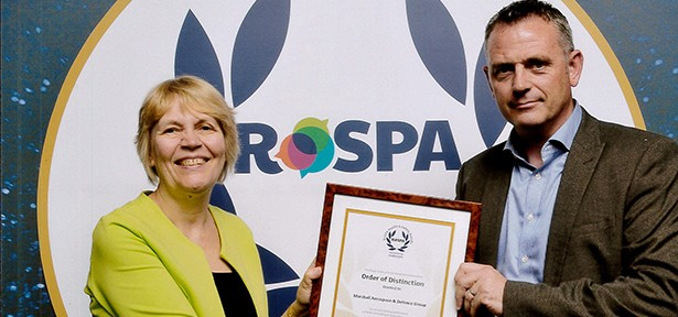 Marshall Aerospace and Defence Group awarded the Order of Distinction from RoSPA