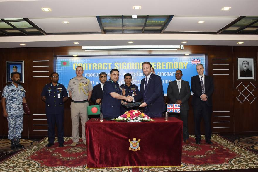 Marshall Aerospace and Defence signs new multi-million-pound support contract for Bangladesh C-130J fleet