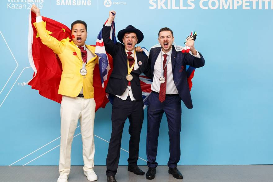 Marshall apprentice strikes gold for UK