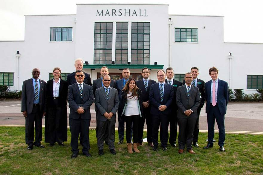 Marshall welcomes visit from Royal College of Defence Studies