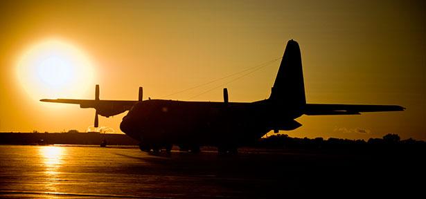 CFB Trenton tarmac sunset