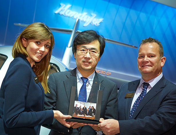 L to R - Charlotte Daniels, Michimasa Fujino and Howard Povey