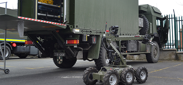 The Irish Defence Forces have taken delivery of two additional MAN HX 60 4 x 4 armoured trucks fitted with Marshall Aerospace and Defence Group armoured shelters for their EOD teams deployed in support of UN missions in the Middle East.