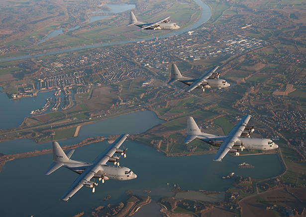 The fleet of four upgraded C-130Hs of the Royal Netherlands Air Force