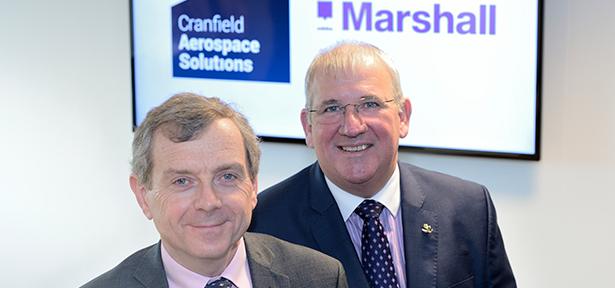L-R Paul Hutton, CEO of Cranfield Aerospace. Steve Fitz-Gerald, CEO of Marshall Aerospace and Defence Group
